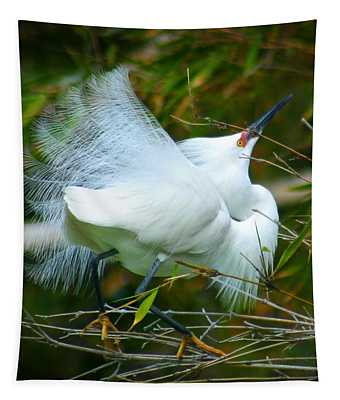 Dancing Egret Tapestry