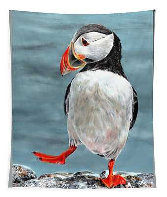 Dancing Puffin Tapestry