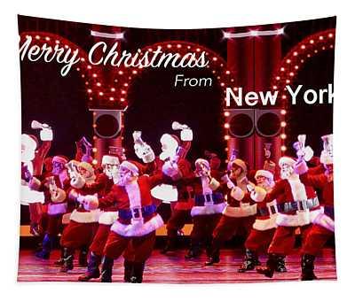 Dancing Santas Tapestry