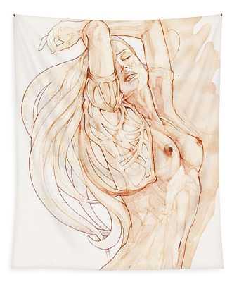Dancing Woman Aquarelle Tapestry