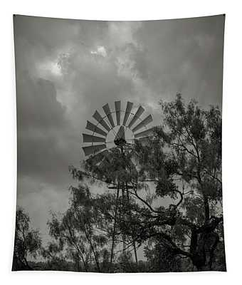 Dark Windmill Tapestry
