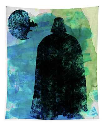 Darth And A Star Watercolor Tapestry