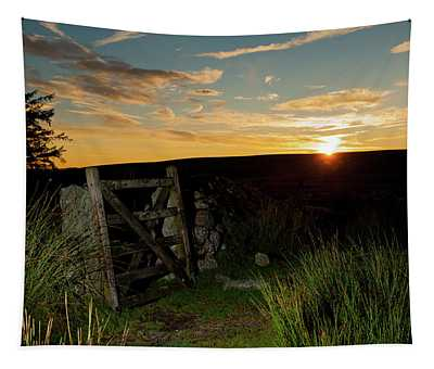 Dartmoor Gate At Sunrise Tapestry