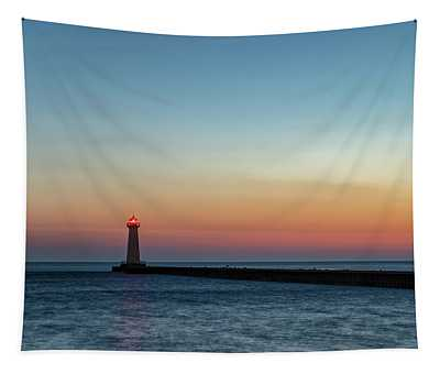 Dawn At Sodus Point Tapestry