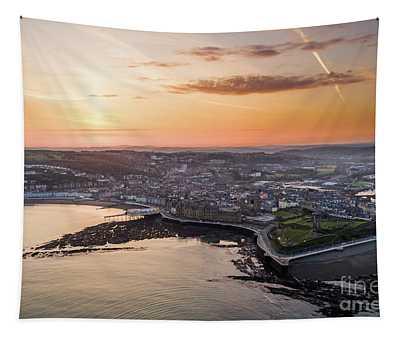 Daybreak Over Aberystwyth Wales Tapestry