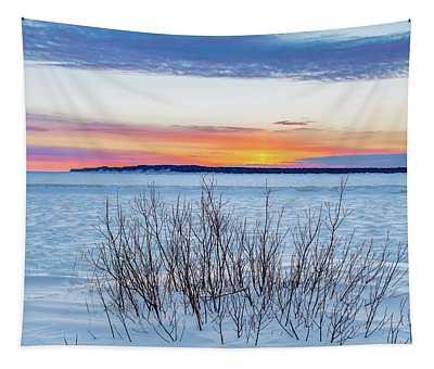 Daybreak Over East Bay Tapestry