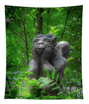 Daydreaming Gargoyle Tapestry