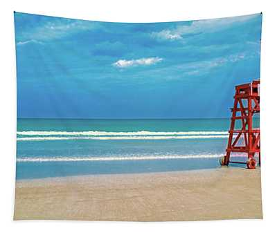 Daytona Beach Lifeguard Station, Atlantic Ocean, Florida Tapestry