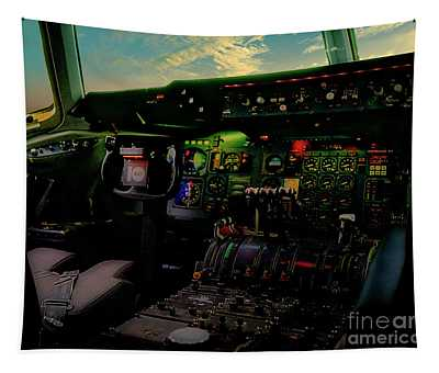 Dc10 Cockpit Left Hand Seat 521210021 Tapestry