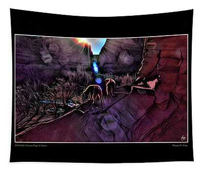 Dechelly Canyon Pups At Dawn Poster Tapestry