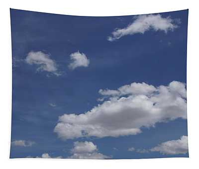 Deep Blue Sky And Fluffy Cumulous Cloud Tapestry