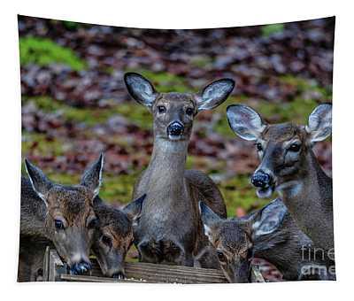 Deer Gathering Tapestry