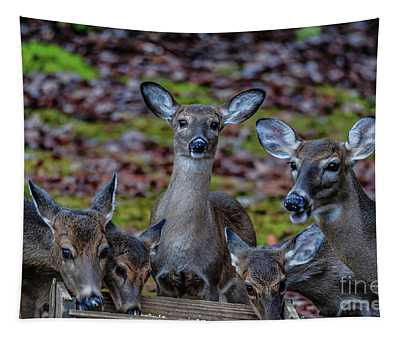 Deer Gathering Tapestry