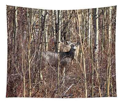 Deer Hiding Tapestry