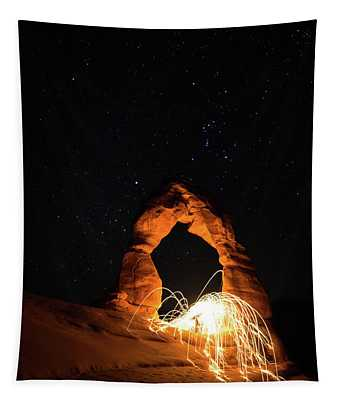 Delicate Arch Steel Wool Tapestry