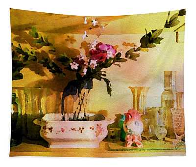 Delicate Flowers Tapestry