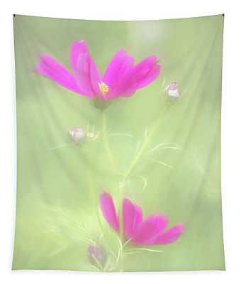 Delicate Painted Cosmos Tapestry