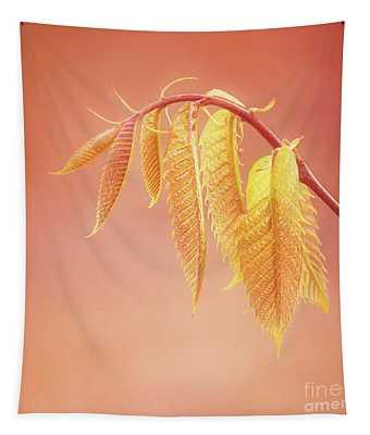 Delightful Baby Chestnut Leaves Tapestry
