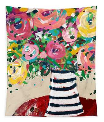 Delightful Bouquet 5- Art By Linda Woods Tapestry