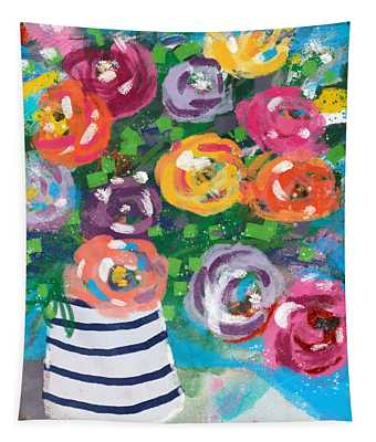 Delightful Bouquet 6- Art By Linda Woods Tapestry