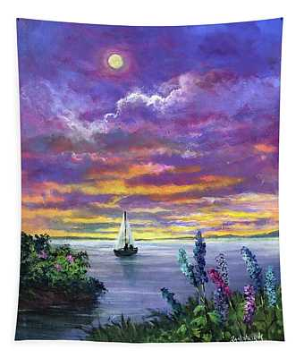 Delphinium Dreams Tapestry