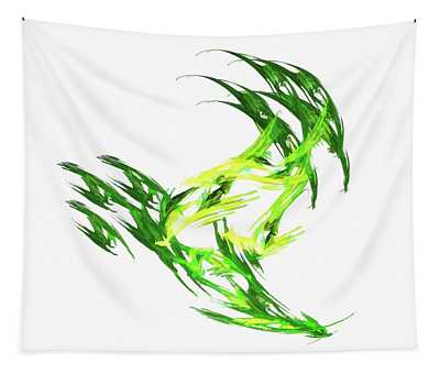 Deluxe Throwing Star Green Tapestry