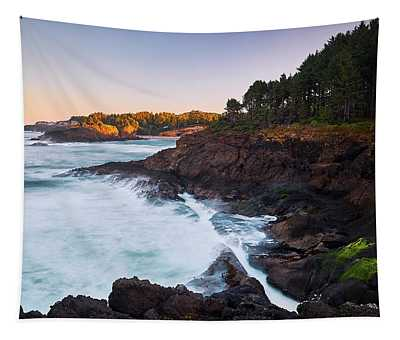Tapestry featuring the photograph Depoe Bay Sunrise by Whitney Goodey