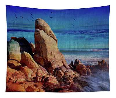 Desert Boulders On The Shorelline Tapestry