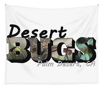 Desert Bugs Big Letter Tapestry
