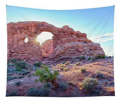 Desert Sunset Arches National Park Tapestry