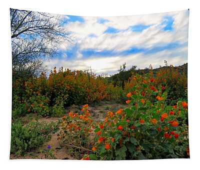 Desert Wildflowers In The Valley Tapestry