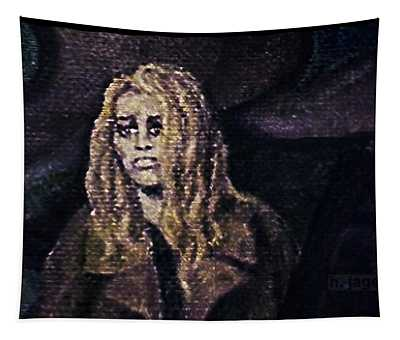 Tapestry featuring the painting Despair by Hartmut Jager