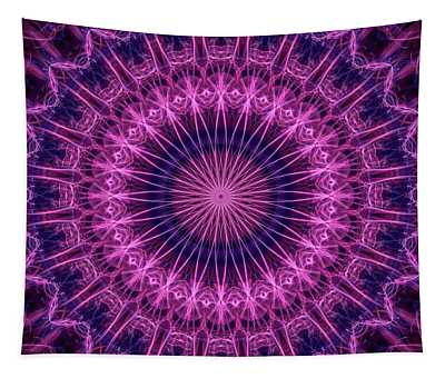 Detailed Mandala In Pink And Violet Tones Tapestry