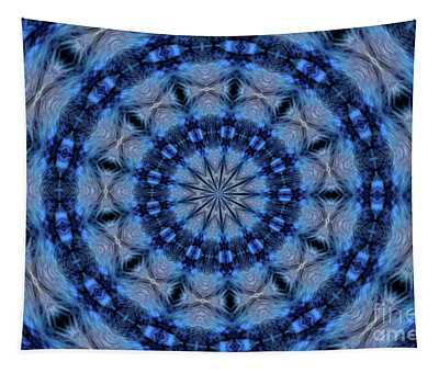Blue Jay Mandala Tapestry