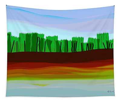 Digital Landscape Organic City Tapestry