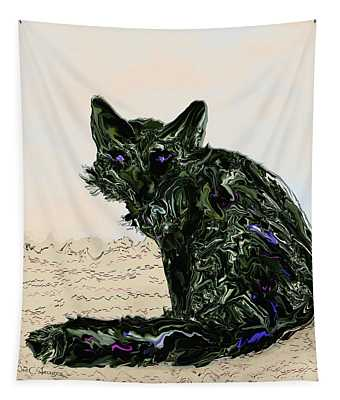 Digital Red Fox #1 Tapestry
