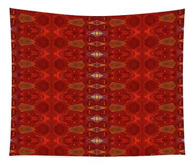 Patterns Colorful - Ruby Red Modern Pattern - By Omaste Witkowski Tapestry