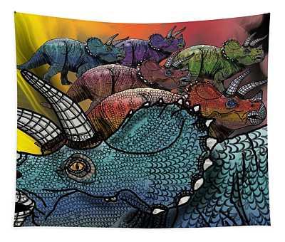 Dinosaur Triceratops Herd Tapestry