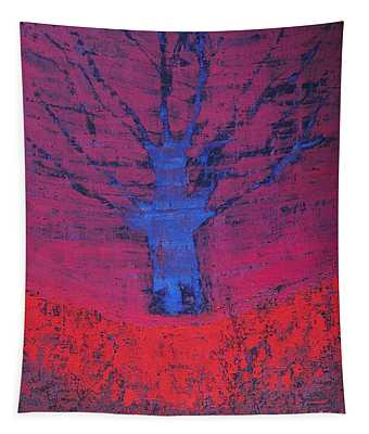 Disappearing Tree Original Painting Tapestry