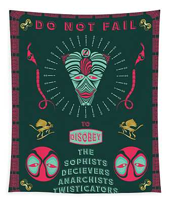 Disobey No 1 Tapestry