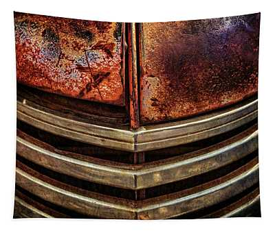 Distressed And Aged Antique Dodge Truck Grill Tapestry