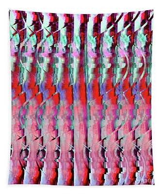 Dna Autostereogram Qualias Grass Red Tapestry