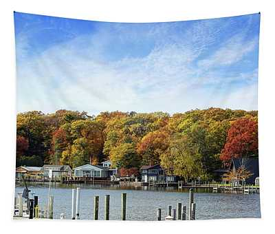 Dockside View Tapestry