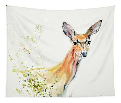White-tailed Doe Tapestry