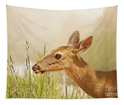 Doe At Dawn Tapestry