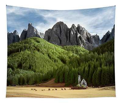 Dolomite Church Tapestry