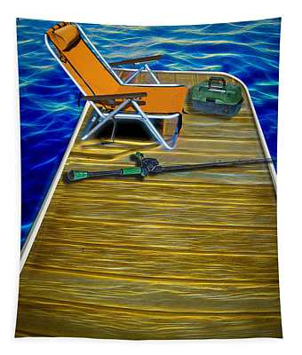 Done Fishing Tapestry