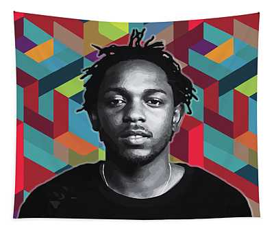 Tapestry featuring the painting Don't Kill My Vibe Kendrick by Carla B
