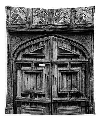 Door To A Black And White Past Tapestry