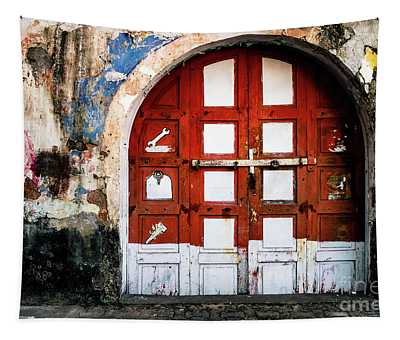 Tapestry featuring the photograph Doors Of India - Garage Door by Miles Whittingham